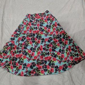 Agnes and Dora midi skirt, vintage pattern